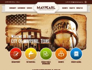 ci.maypearl.tx.us screenshot