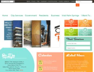 ci.palm-springs.ca.us screenshot