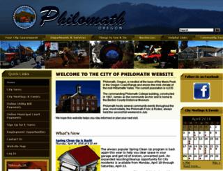 ci.philomath.or.us screenshot