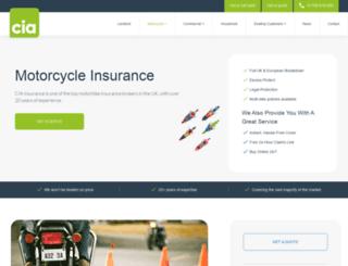 cia-motorcycle-insurance.co.uk screenshot
