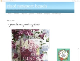 ciaonewportbeach.blogspot.com screenshot