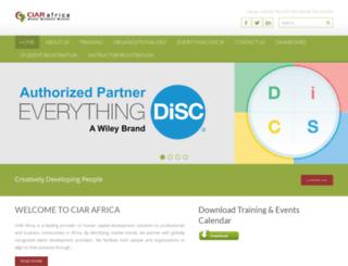 ciarafrica.com screenshot