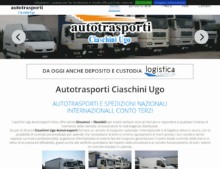 ciaschiniautotrasporti.it screenshot
