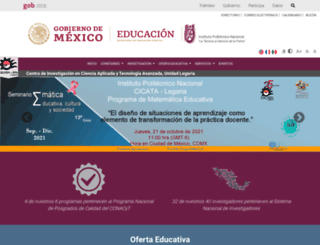 cicata.ipn.mx screenshot