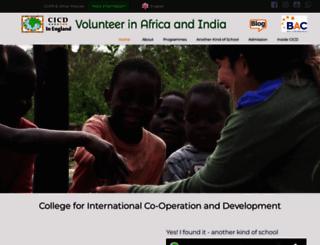 cicd-volunteerinafrica.org screenshot