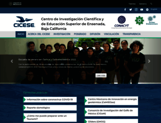 cicese.mx screenshot