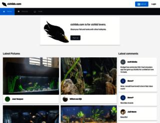 cichlids.com screenshot