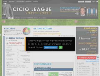 cicioleague.com screenshot