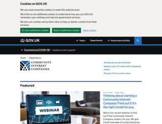 cicregulator.gov.uk screenshot
