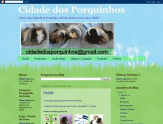 cidadedosporquinhos.blogspot.com.br screenshot