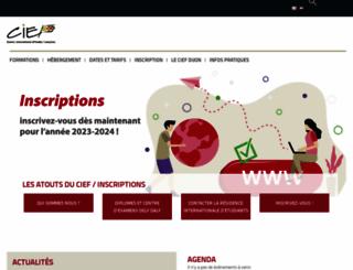 cief.u-bourgogne.fr screenshot