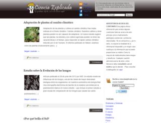 cienciaexplicada.com screenshot