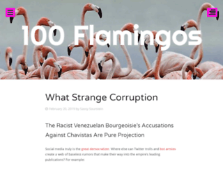 cienflamingos.wordpress.com screenshot
