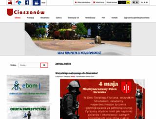 cieszanow.eu screenshot