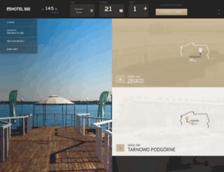 cieszyn.hotel500.com.pl screenshot