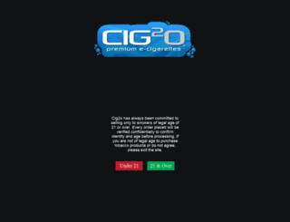 cig2o.com screenshot