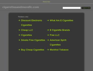 cigarettesandmorellc.com screenshot