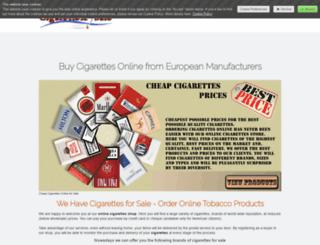 cigarettex.jimdo.com screenshot