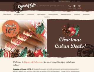 cigars-of-cuba.com screenshot