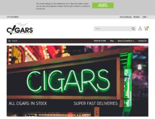 cigars.co.za screenshot