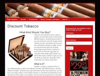 cigarsampler.us screenshot