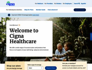 cigna.com screenshot