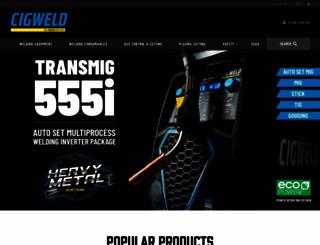 cigweld.com.au screenshot