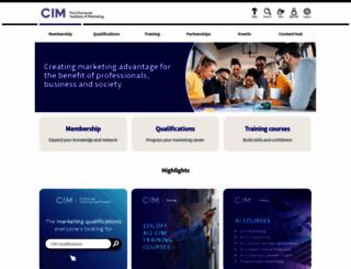 cim.co.uk screenshot