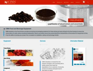 cimafood.com screenshot