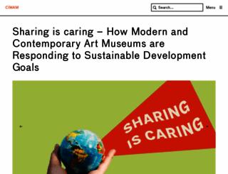 cimam.org screenshot