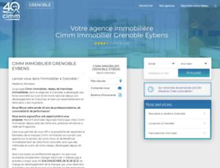 cimm-immobilier-eybens.fr screenshot
