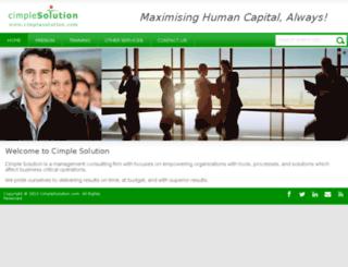 cimplesolution.com screenshot