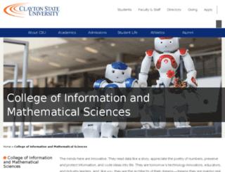 cims.clayton.edu screenshot