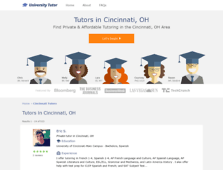 cincinnati.universitytutor.com screenshot
