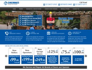 cincinnatigaragedoorexperts.com screenshot