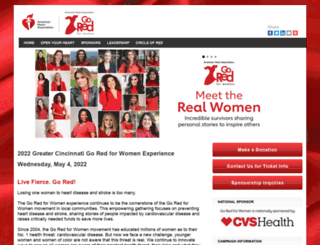cincinnatigored.ahaevents.org screenshot
