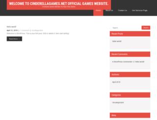 cinderellagames.net screenshot