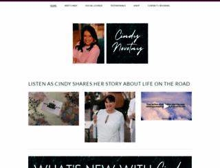 cindynovotny.com screenshot