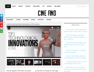 cinefind.com screenshot