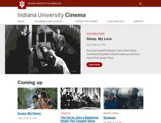 cinema.indiana.edu screenshot