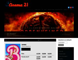 cinema21.com screenshot