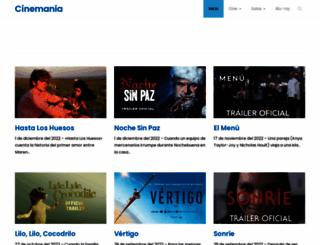 cinemania.co.cr screenshot