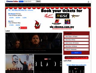 cinemaonline.com.my screenshot