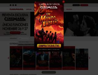 cinemark.com.co screenshot