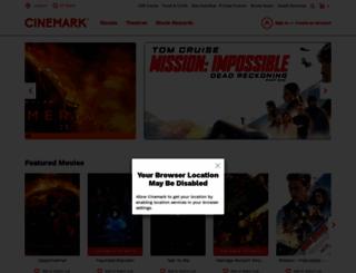 cinemark.com screenshot