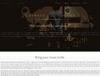 cinematicstrings.com screenshot