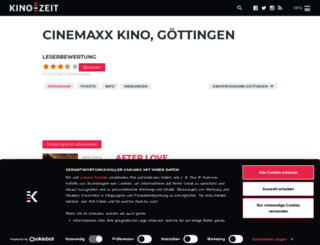 cinemaxx-kino-gottingen.kino-zeit.de screenshot