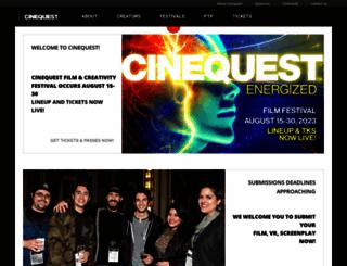cinequest.org screenshot