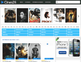 cines24.com screenshot