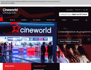 cineworldplc.com screenshot